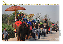 Carry-all Pouch featuring the photograph The Elephant Parade by Vivian Christopher