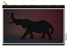 Carry-all Pouch featuring the digital art The Elephant... by Tim Fillingim