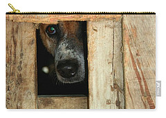 Carry-all Pouch featuring the photograph The Face Of Hoarding by Nola Lee Kelsey