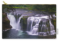 Carry-all Pouch featuring the photograph The Falls by David Gleeson