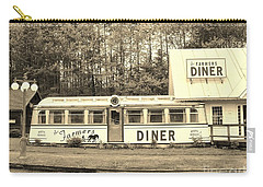 Carry-all Pouch featuring the photograph The Farmers Diner In Sepia by Sherman Perry