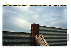 Carry-all Pouch featuring the photograph The Fence The Sky And The Beach by Andy Prendy