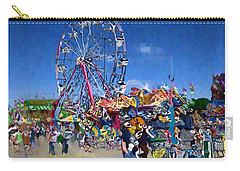 Carry-all Pouch featuring the photograph The Ferris Wheel At The Fair by Mario Carini