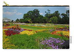Carry-all Pouch featuring the photograph The Gardens Of The Conservatory by Lynn Bauer