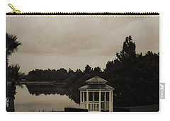 Carry-all Pouch featuring the photograph The Gazebo At The Lake by DigiArt Diaries by Vicky B Fuller