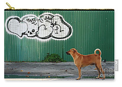 Carry-all Pouch featuring the photograph The Graffiti Artist by Nola Lee Kelsey