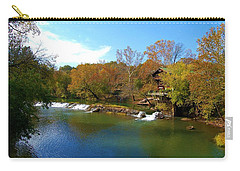 Carry-all Pouch featuring the photograph The Grist Big River by Peggy Franz