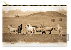 The Horse Herd Carry-all Pouch by Steve McKinzie