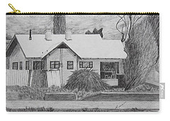 Carry-all Pouch featuring the drawing The House Across by Kume Bryant