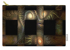 Carry-all Pouch featuring the digital art The Indomitability Of The Idea by Casey Kotas