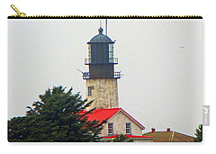 The Lighthouse Of Tatoosh Carry-all Pouch by Tikvah's Hope
