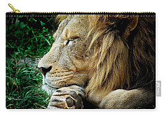 The Lions Sleeps Carry-all Pouch