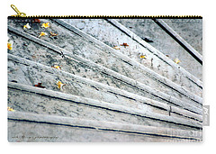 Carry-all Pouch featuring the photograph The Marble Steps Of Life by Vicki Ferrari