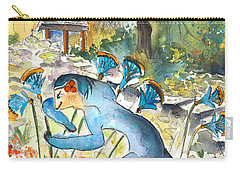 The Minotaur In Knossos Carry-all Pouch by Miki De Goodaboom