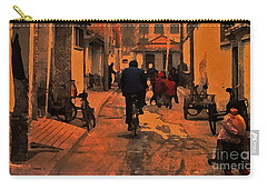 Carry-all Pouch featuring the photograph The Neighborhood by Lydia Holly