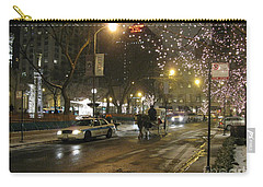 Carry-all Pouch featuring the photograph The Past Meets The Present In Chicago Il by Ausra Huntington nee Paulauskaite