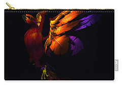 Carry-all Pouch featuring the digital art The Phoenix Rising... by Tim Fillingim