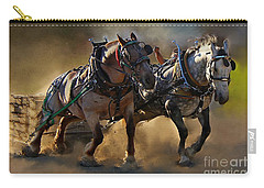 The Power Of Two Carry-all Pouch by Davandra Cribbie