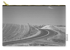 Carry-all Pouch featuring the photograph The Quiet Road by Kathleen Grace