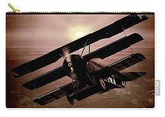 Carry-all Pouch featuring the photograph The Red Baron's Fokker At Sunset by Chris Lord