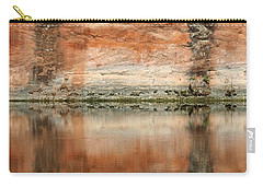 Carry-all Pouch featuring the photograph The Reflecting Wall by Nola Lee Kelsey