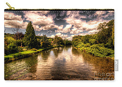 The River Exe At Bickleigh Carry-all Pouch by Rob Hawkins