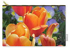 Carry-all Pouch featuring the photograph The Secret Life Of Tulips - 2 by Rory Sagner
