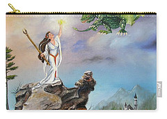 Carry-all Pouch featuring the painting The Summoning by Lori Brackett