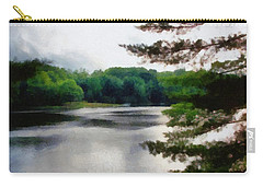 The Swimming Dock Carry-all Pouch by Michelle Calkins