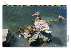 Carry-all Pouch featuring the photograph The Swimming Lesson by Rory Sagner