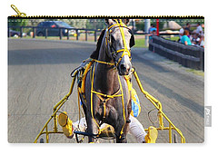 Carry-all Pouch featuring the photograph The Warm-up by Davandra Cribbie