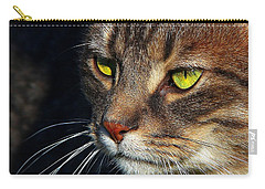 Carry-all Pouch featuring the photograph The Watcher by Davandra Cribbie