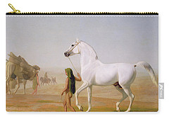 The Wellesley Grey Arabian Led Through The Desert Carry-all Pouch by Jacques-Laurent Agasse