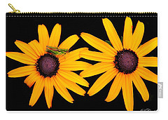 Carry-all Pouch featuring the photograph The Yellow Rudbeckia by Davandra Cribbie
