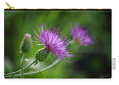 Carry-all Pouch featuring the photograph Thistle Dance by Vicki Pelham