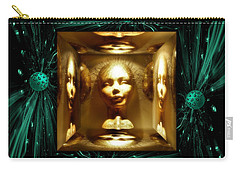 Carry-all Pouch featuring the digital art Thoughts Mirror Box by Rosa Cobos