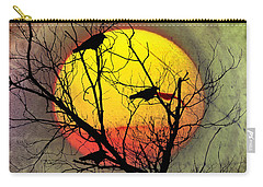 Three Blackbirds Carry-all Pouch by Bill Cannon