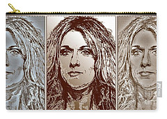 Three Interpretations Of Celine Dion Carry-all Pouch by J McCombie
