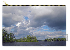 Carry-all Pouch featuring the photograph Three Islands And Cloud Mass by Lynda Lehmann