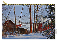 Carry-all Pouch featuring the photograph Three Little Houses by Johanna Bruwer