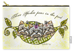 Three Yorkie Peas In The Pod Carry-all Pouch