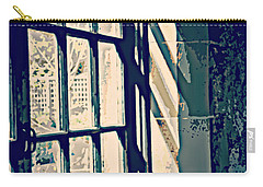 Carry-all Pouch featuring the photograph View Through The Window - Painterly Effect by Marilyn Wilson