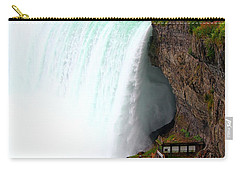 Carry-all Pouch featuring the photograph Thundering Force by Davandra Cribbie
