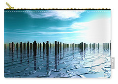Carry-all Pouch featuring the digital art Tide Is Out... by Tim Fillingim