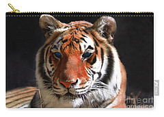 Tiger Blue Eyes Carry-all Pouch