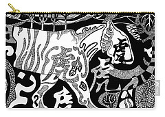 Tiger Calligraphy  Carry-all Pouch
