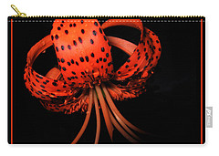 Tiger Lily Wall Art Print Carry-all Pouch by Carol F Austin