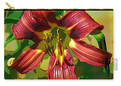 Carry-all Pouch featuring the photograph Tiger Lily by Cindy Manero