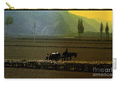 Carry-all Pouch featuring the photograph 'til The Day Is Done by Lydia Holly