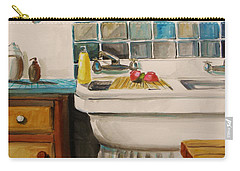 Carry-all Pouch featuring the painting Tile And Porcelein by John Williams